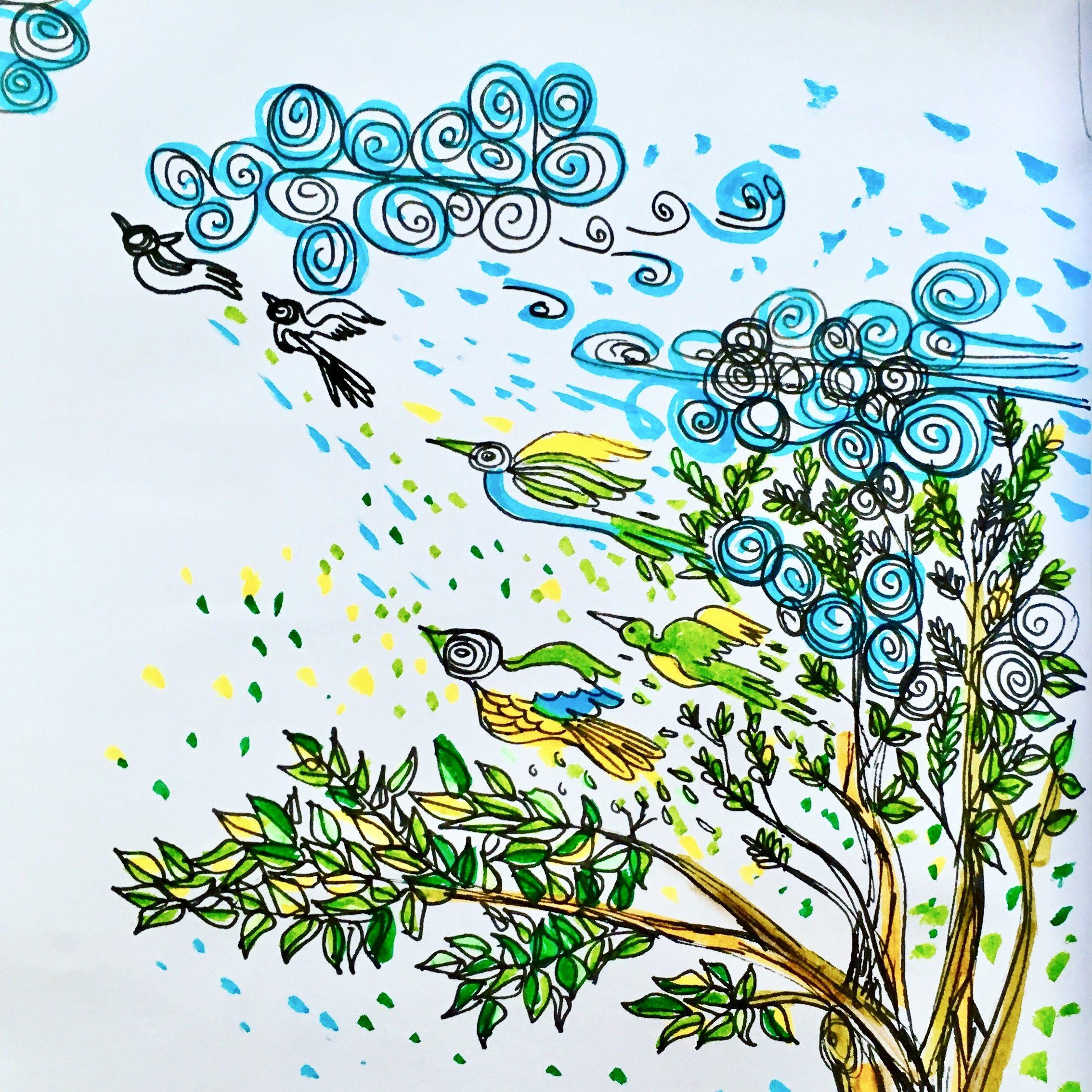 BluevertSoul-spreadingLove-illustration-bleuet vert-1