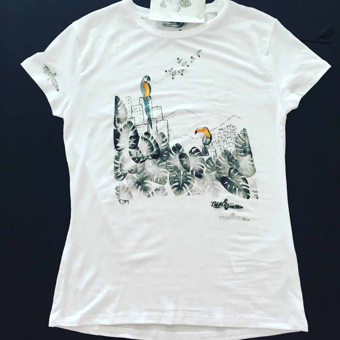 Bluevert Soul-Tshirt blockprinted-Caracas Jungle-TS001
