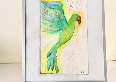 ILLUSTRATION-TYM-BLUEVERT SOUL-MIXED MEDIA ART-FLYING HIGH II-29,7X21CM MIXTE SUR PAPIER