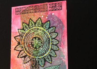 PAPETERIE-TYM-BLUEVERTSOUL-CARTE DES VOEUX-FLOWER LOVE 2-FORMAT A6.J