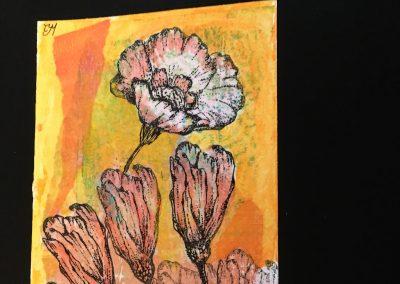 PAPETERIE-TYM-BLUEVERTSOUL-CARTE DES VOEUX-FLOWER LOVE 3-FORMAT A6.