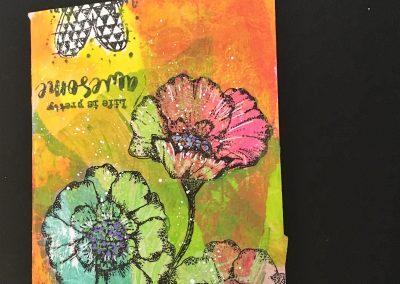 PAPETERIE-TYM-BLUEVERTSOUL-CARTE DES VOEUX-FLOWER LOVE 4-FORMAT A6.