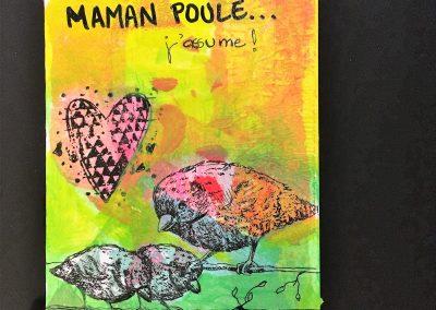 PAPETERIE-TYM-BLUEVERTSOUL-CARTE DES VOEUX-MAMAN LOVE 2-FORMAT A6
