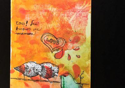 PAPETERIE-TYM-BLUEVERTSOUL-CARTE DES VOEUX-MAMAN LOVE 3-FORMAT A6