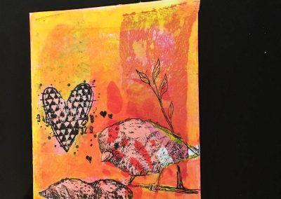 PAPETERIE-TYM-BLUEVERTSOUL-CARTE DES VOEUX-MAMAN LOVE 4-FORMAT A6