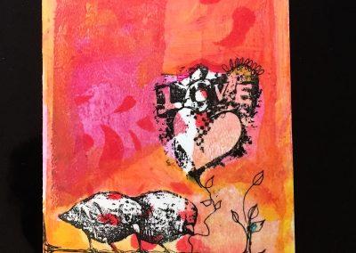 PAPETERIE-TYM-BLUEVERTSOUL-CARTE DES VOEUX-MAMAN LOVE-FORMAT A6