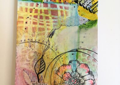 PAPETERIE-TYM-BLUEVERTSOUL-MIXED MEDIA ART-CARTE POSTALE-WHITTLE-FORMAT A6-PAPIER ÉPAIS