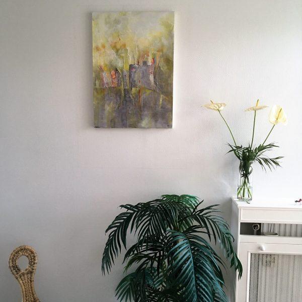 bluevertsoul-tym-peinture originale-mixed media -technique mixte- objet dart-decoration maison